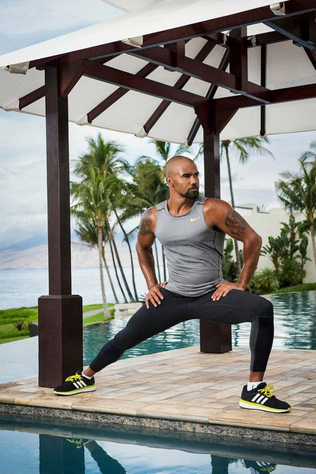 Shemar Moore poses for a photospread in Watch! magazine