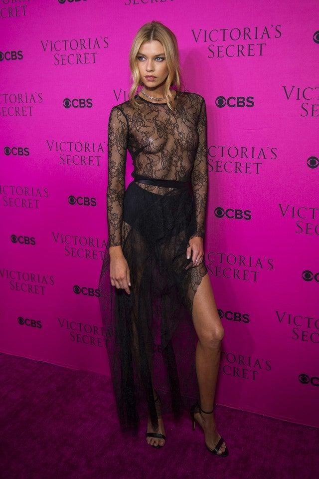 c6ae104921c Bella Hadid Rocks Skintight Latex Dress for Victoria s Secret ...