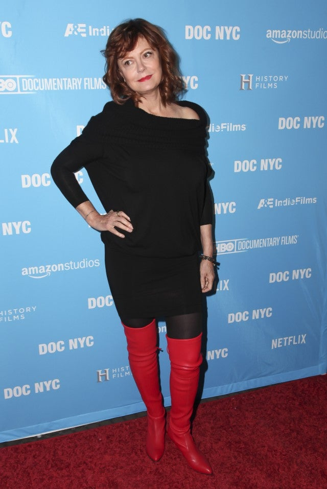 Susan Sarandon in red boots
