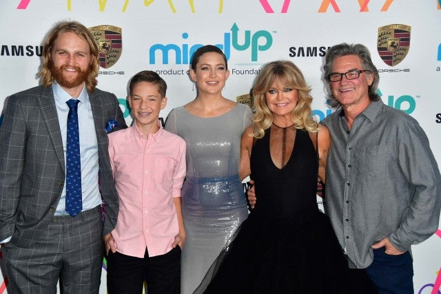 Wyatt Russell, Kate Hudson, Ryder Robinson, Goldie Hawn and Kurt Russell at Goldie Hawn's Goldie's Love in For Kids event