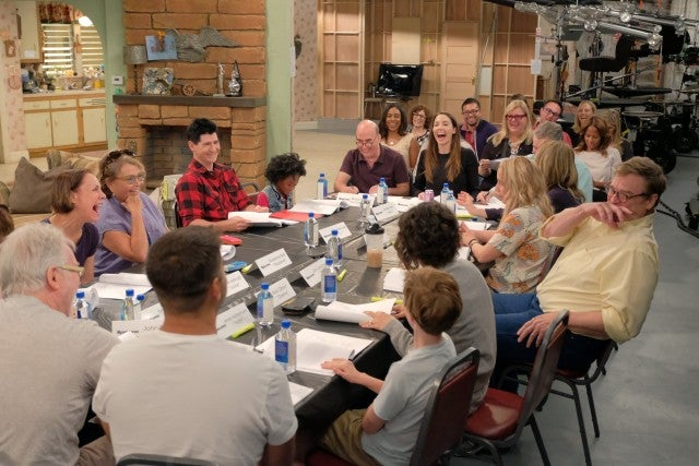 Roseanne cast at table read