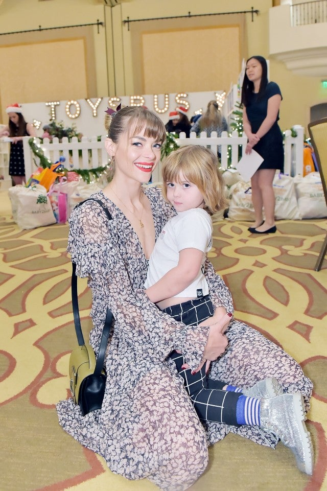 Jaime King and son at baby2baby event
