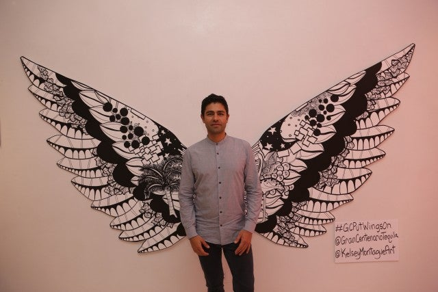 Adrian Grenier at Art Basel