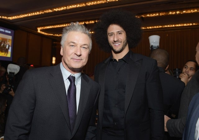 Alec Baldwin and Colin Kaepernick