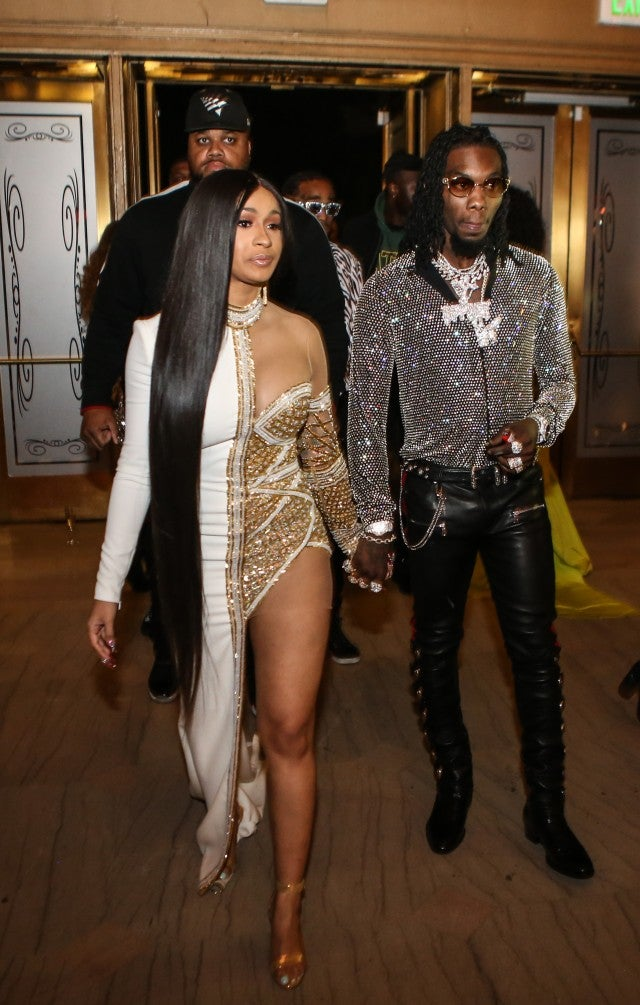 Cardi B and Offset at The Set Gala