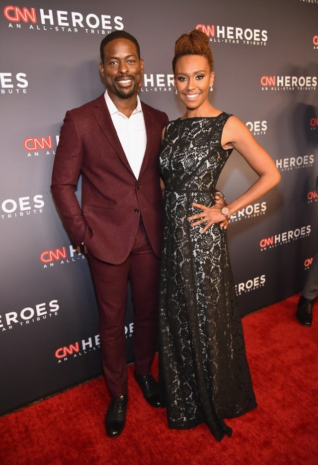 Sterling K Brown and Ryan Michelle Bathe at CNN Heroes 2017