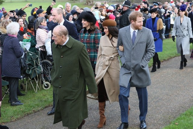 Prince William, Kate Middleton, Meghan Markle and Prince Harry at Christmas Day services