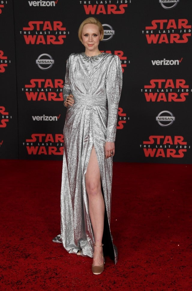 Gwendoline Christie at the Star Wars: The Last Jedi premiere