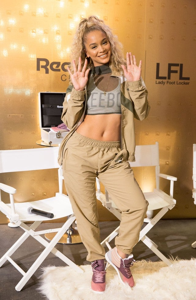 Jasmine Sanders at Reebok launch