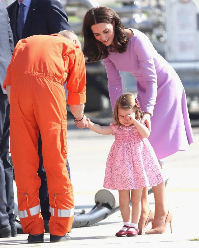 Kate Middleton and Princess Charlotte in Germany