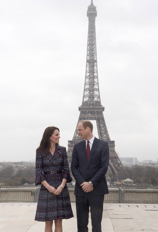 Kate and William in Paris