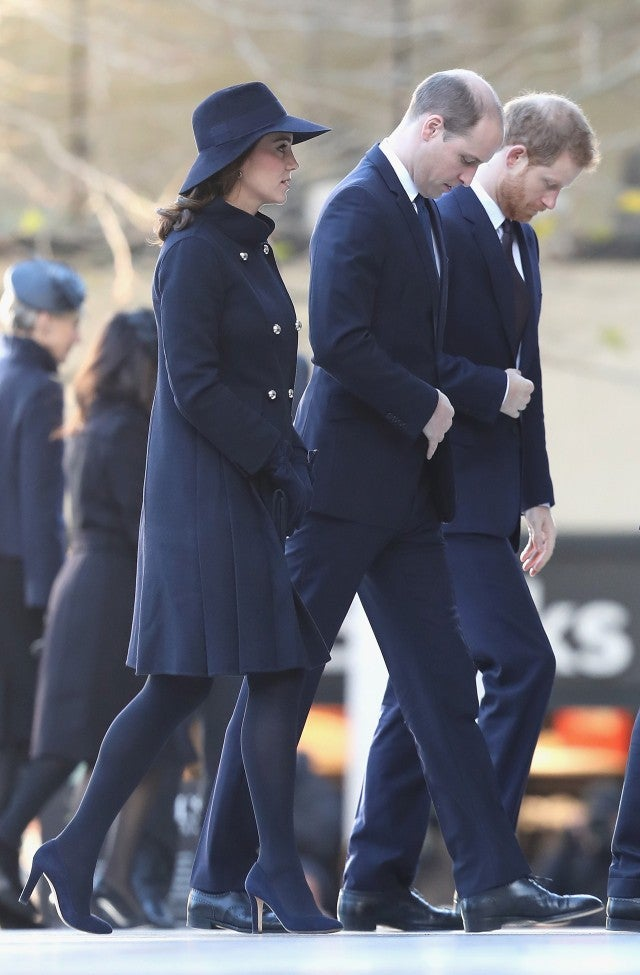 Kate Middleton, Prince Harry, Prince William at memorial