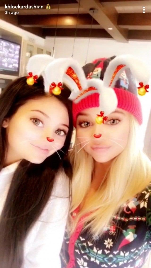 Kylie Jenner and Khloe Kardashian on Christmas