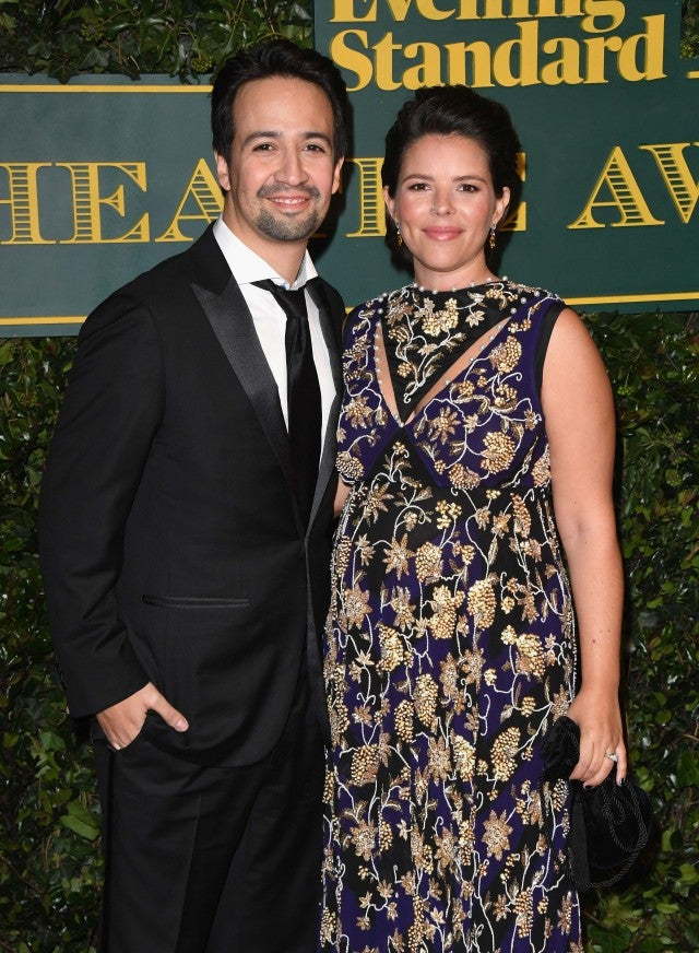 Lin-Manuel Miranda and Wife Vanessa Nadal at the 2017 London Evening Standard Theatre Awards at the Theatre Royal