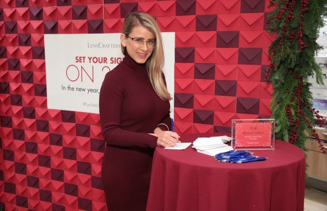 Lo Bosworth at Lenscrafter holiday event