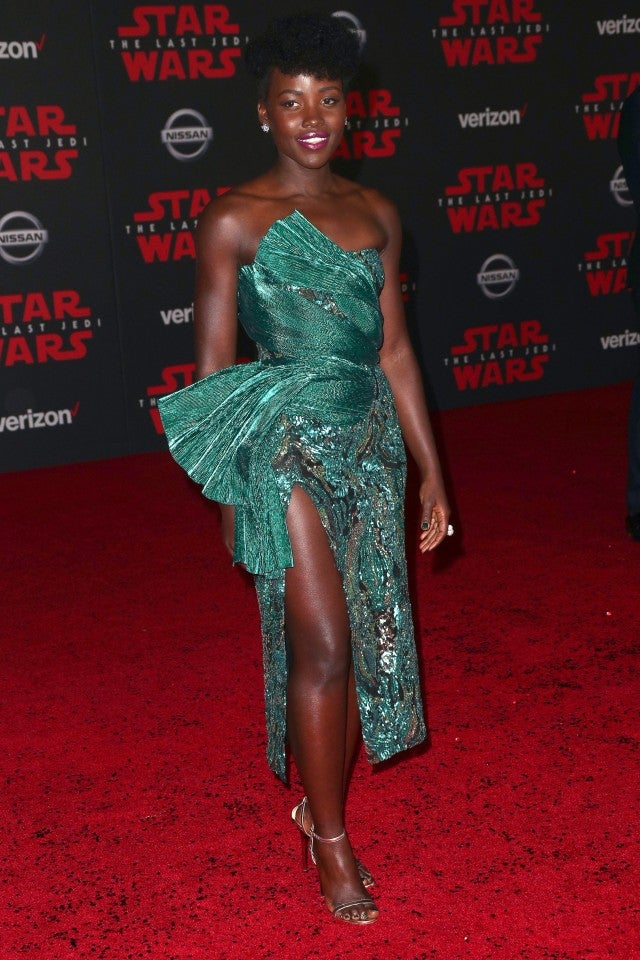 Lupita Nyong'o at the Star Wars: The Last Jedi premiere