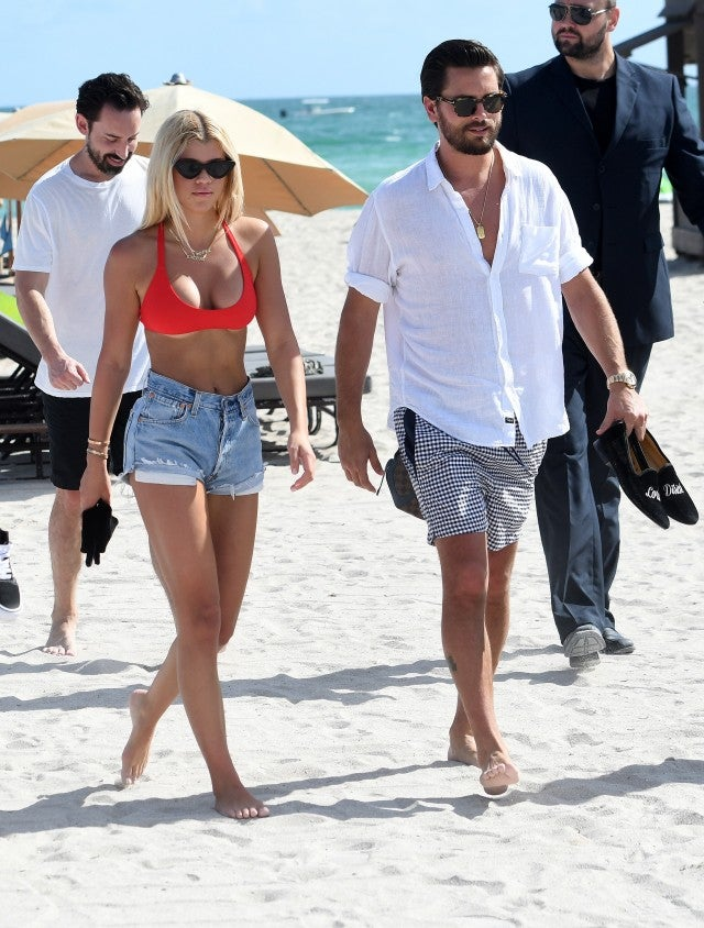 Sofia Richie and Scott Disick in Miami
