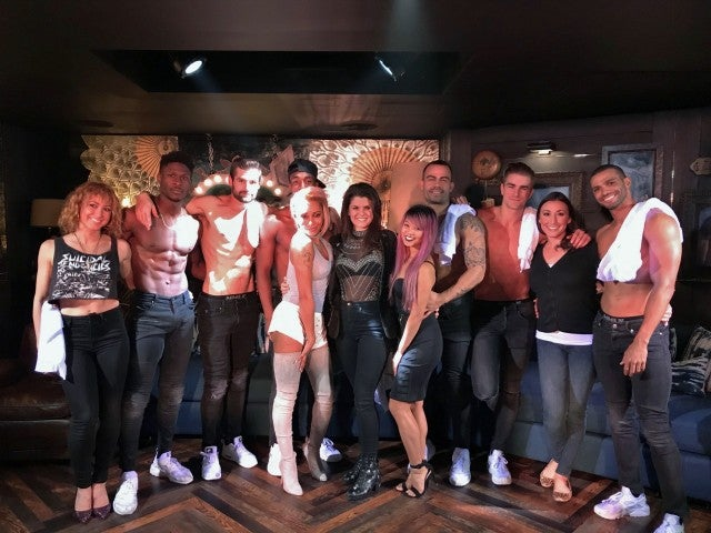 Mel B at Magic Mike Live Las Vegas