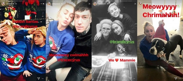 Miley Cyrus christmas celebrations