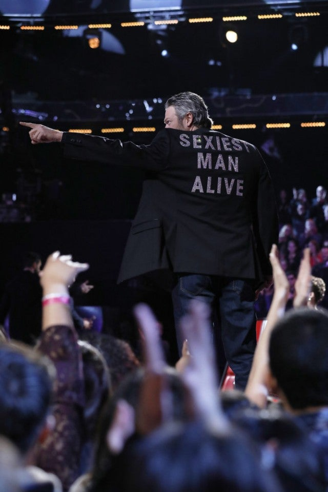Blake Shelton and SMA jacket on The Voice finale