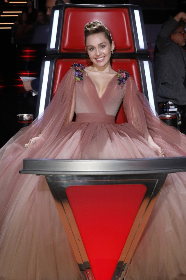 Miley Cyrus on The Voice finale