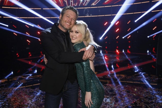 Blake Shelton and Chloe Kohanski after Voice finale