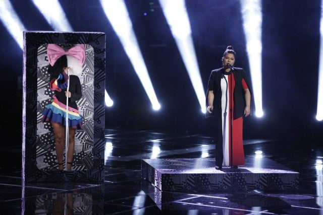 Brooke Simpson and Sia on The Voice finale