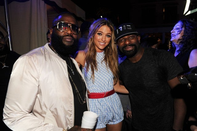 Rick Ross, Martha Hunt & DJ Irie at Art Basel