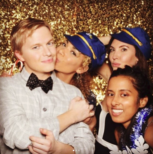 Shannon Woodward and Ronan Farrow