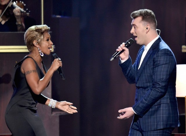 Sam Smith, Mary J. Blige Grammys