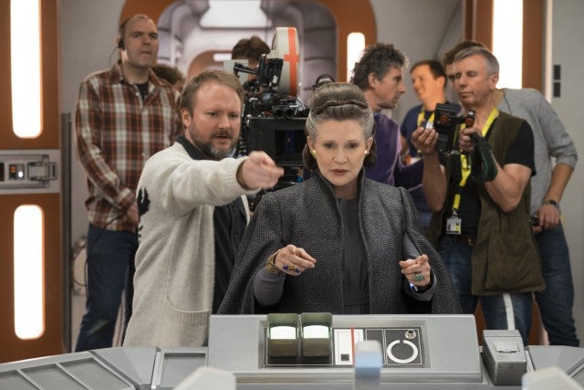 Rian Johnson, Carrie Fisher, Star Wars: The Last Jedi