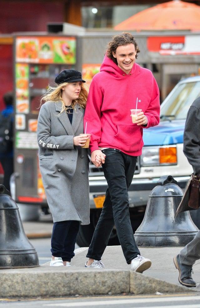 Dakota Fanning and new boyfriend Henry in NYC