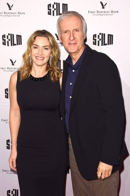 Kate Winslet and James Cameron