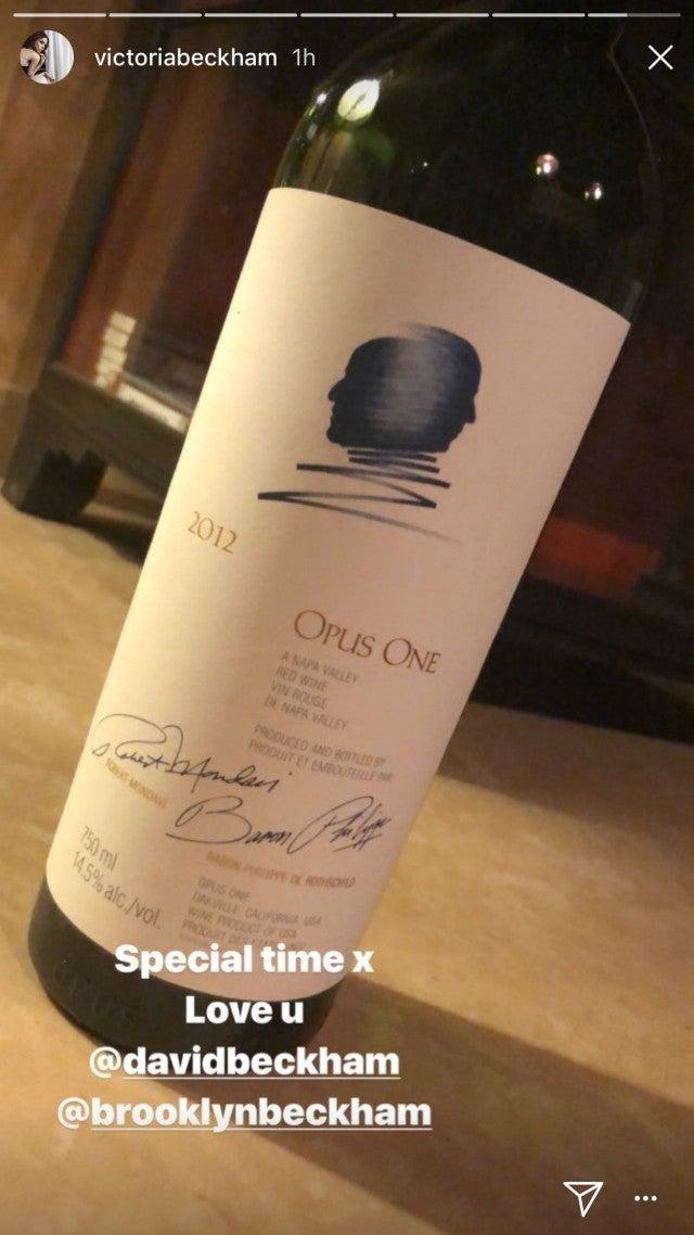 Victoria Beckham wine