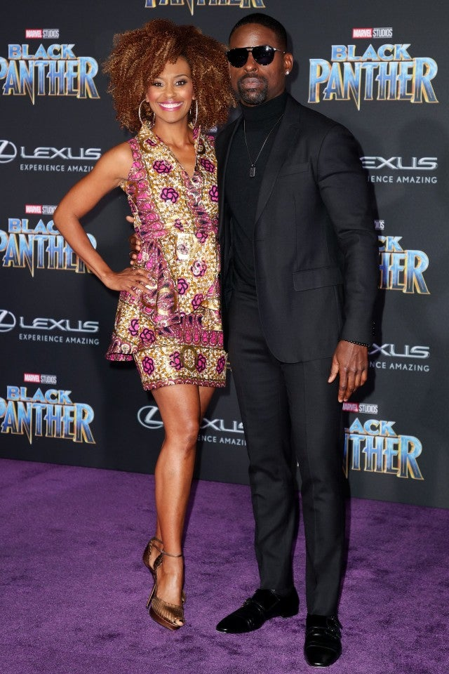 Ryan Michelle Bathe and Sterling K Brown at Black Panther premiere