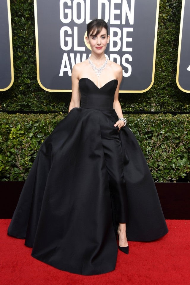 Alison Brie at 2018 Golden Globes
