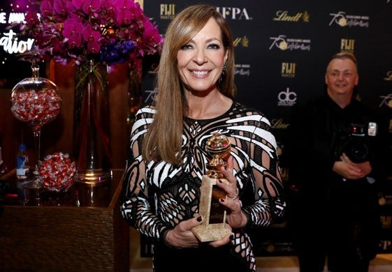 Allison Janney at HFPA party with lindt