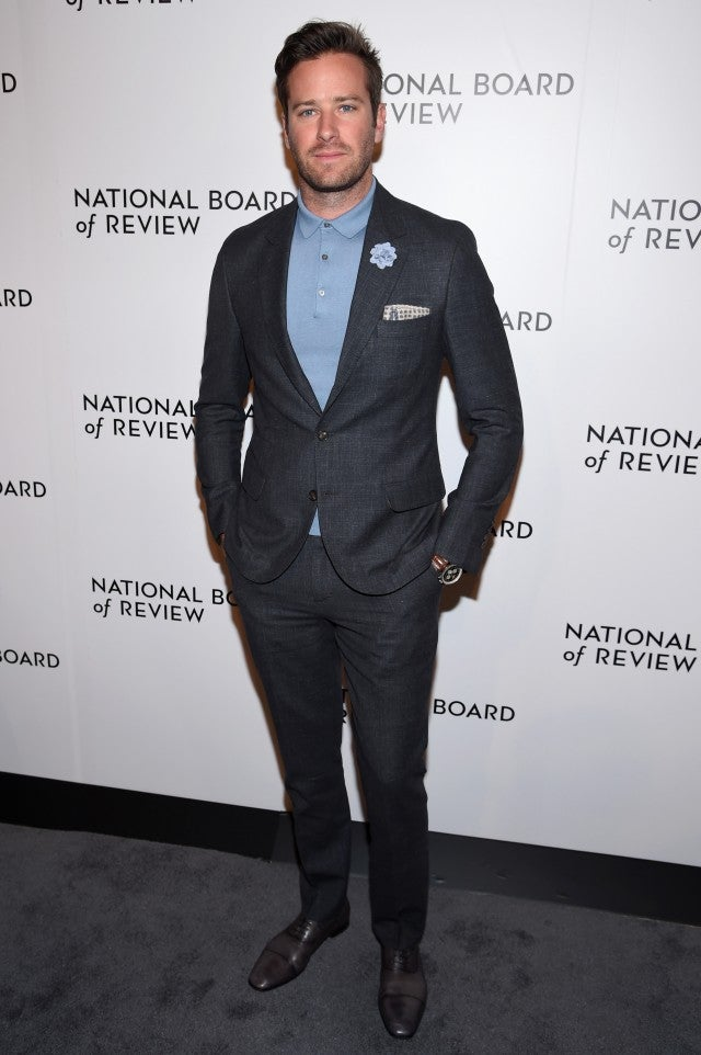 Armie Hammer National Board of Review Gala