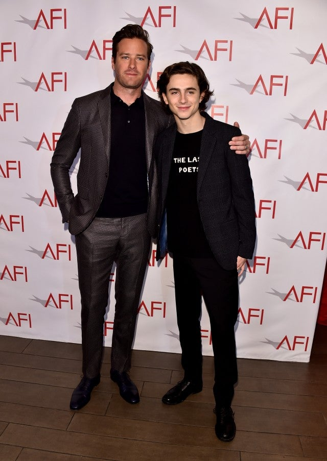 Armie Hammer and Timothee Chalamet AFI Awards