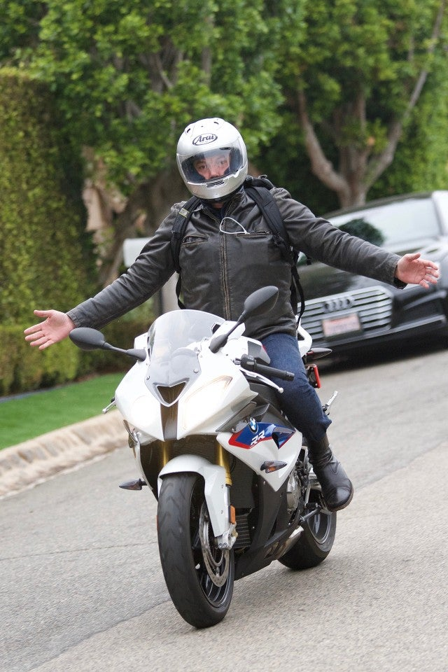 Ben Affleck rides motorcycle