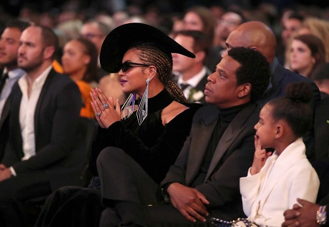Beyonce, Jay-Z, and Blue Ivy