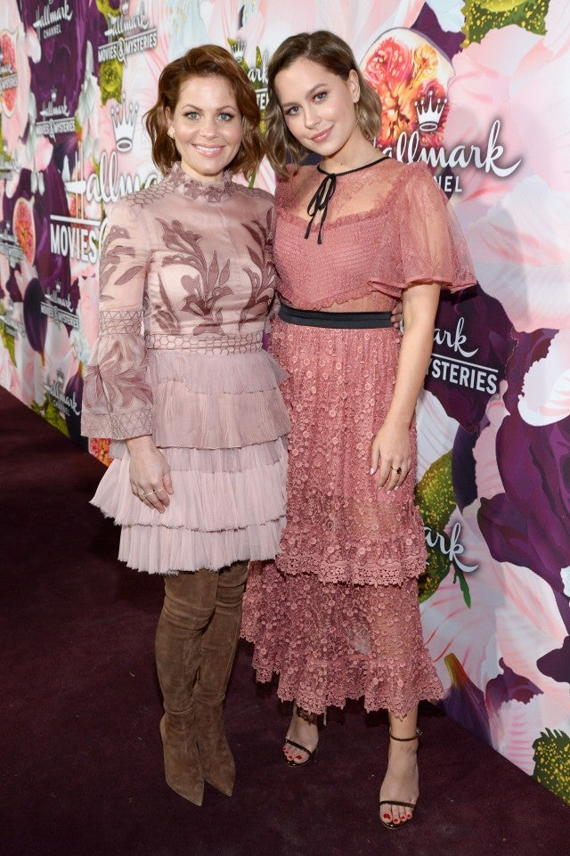 Candace Cameron Bure and daughter Natasha at Hallmark TCA 2018