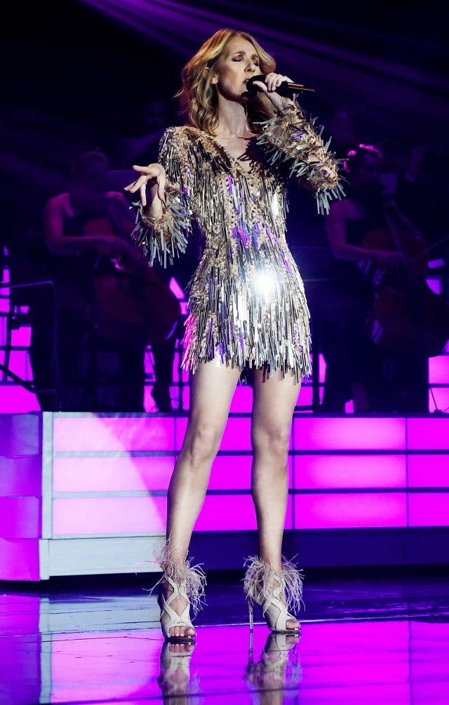 Celine Dion performing in Vegas on NYE
