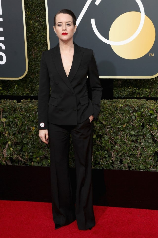 Claire Foy at 2018 Golden Globes