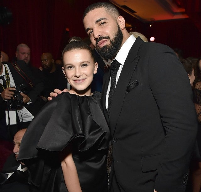 Drake, Millie Bobby Brown at Netflix Golden Globes Party