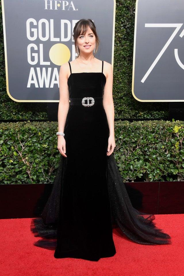 Dakota Johnson at 2018 Golden Globes