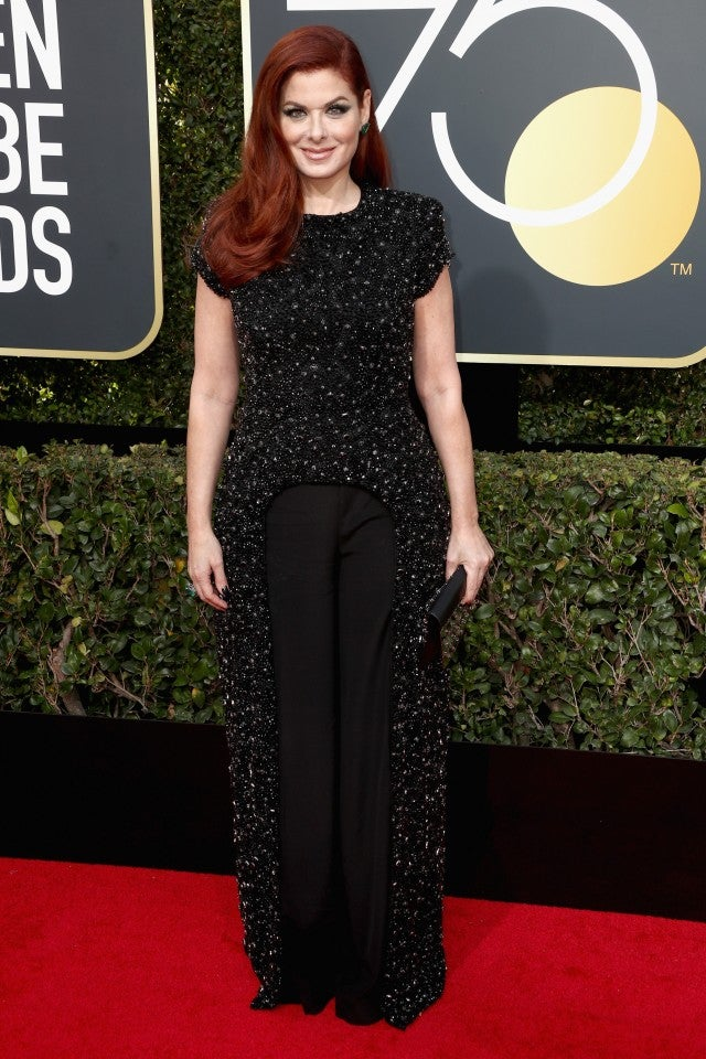 Debra Messing at 2018 Golden Globes
