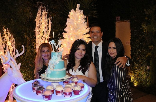 Demi Lovato at Madison de la Garza's birthday