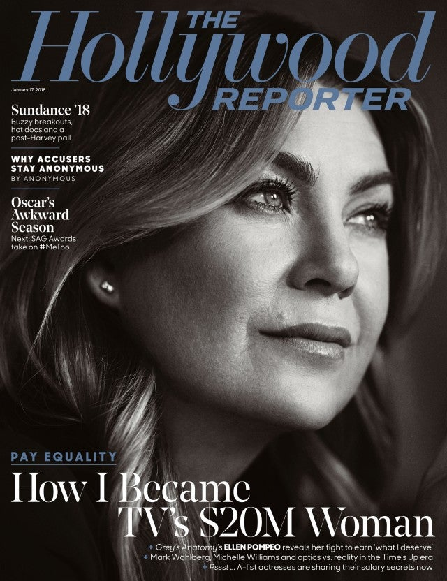 Ellen Pompeo on the cover of 'Hollywood Reporter'