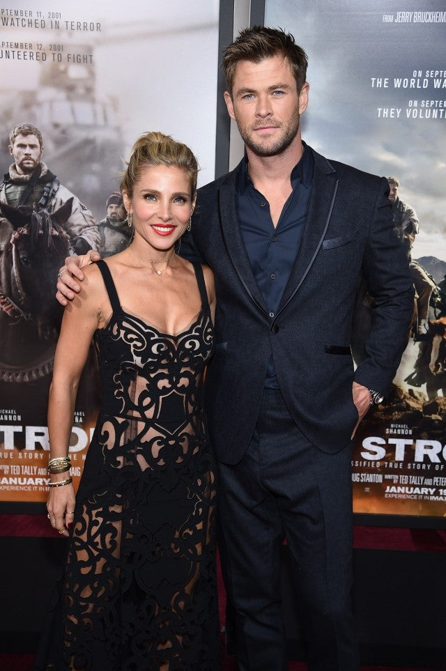 Elsa Pataky and Chris Hemsworth 12 Strong Premiere